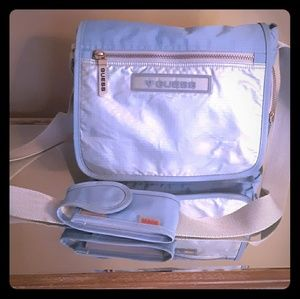 A vintage Guess messenger bag.